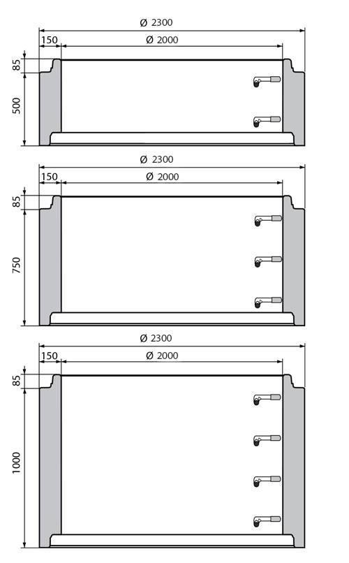 Studnie Szczelne Kręgi Betonowe System Perfect